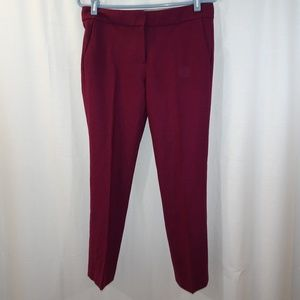 J CREW Campbell Wool Blend Pants Raspberry Size 2